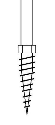 Tige filetée en acier galva avec tirefond soudé